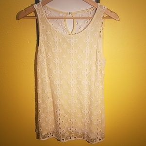 Jennifer Lopez whitsleeveless blouse- Size XS